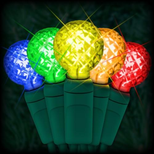 LED multi color Christmas lights 50 G12 mini globe LED bulbs 4