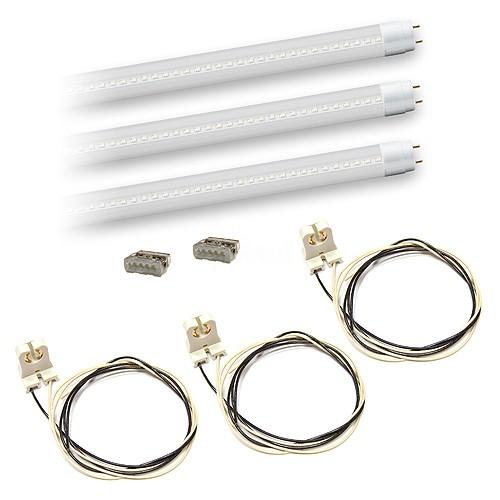 Bulk LED T8 4ft 18watt CLEAR plastic Lens LED G13 base 3 lamp