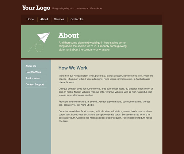 graphic tuts PSD ti HTML simple web layout creating  match background