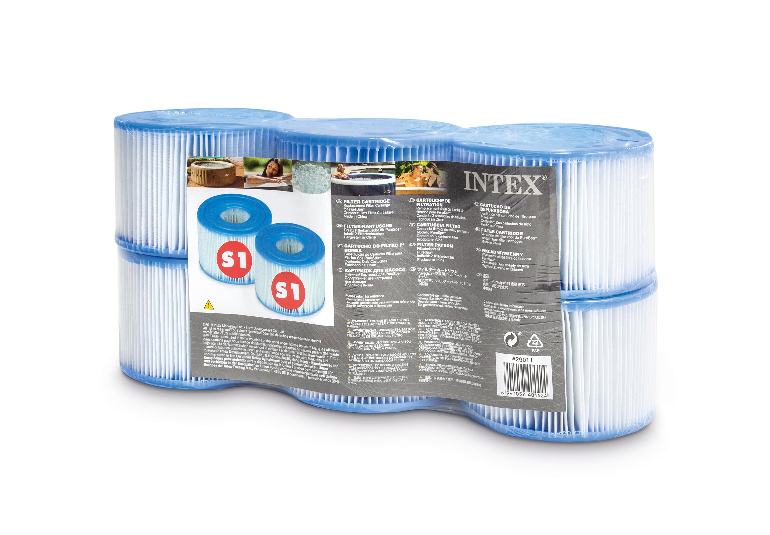 Cartouches De Filtration Intex S1 6 Pces