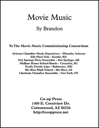 Movie Music for Mixed Trio Bass Clef Instruments JW Pepper Sheet - bass cleft sheet music
