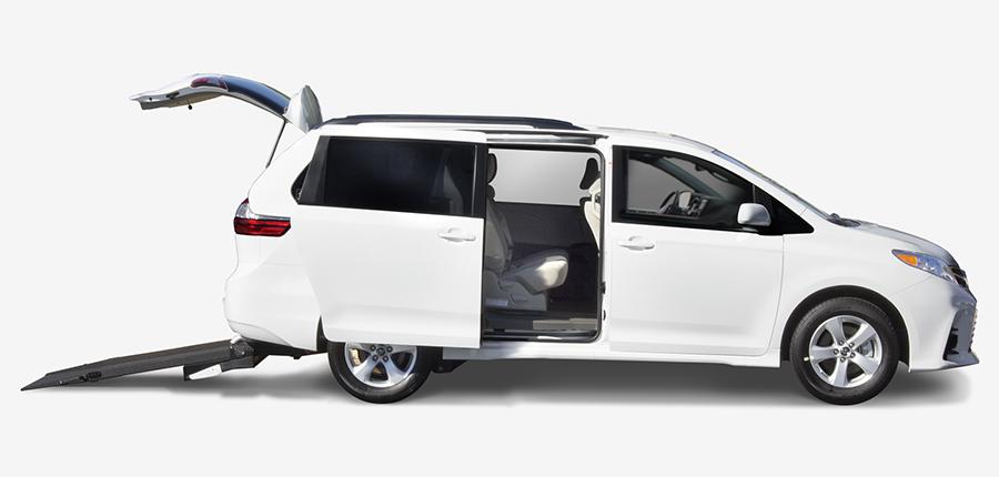 Toyota Rear Entry Wheelchair Vans Manual Lift Ramp AMS Vans