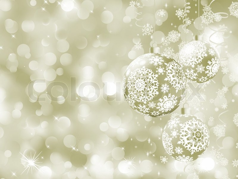 Elegant Christmas balls on abstract Stock Vector Colourbox