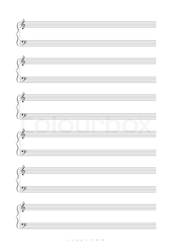 Staff Paper Bass Clef cvfreepro