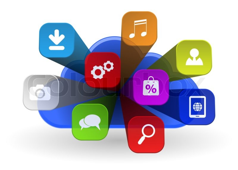 Cloud apps icon - 3d concept Stock Photo Colourbox - apps symbol