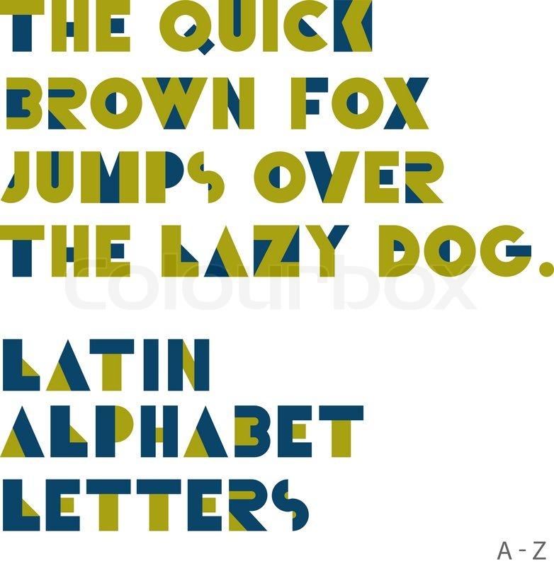Geometric shapes alphabet letters Stock Vector Colourbox