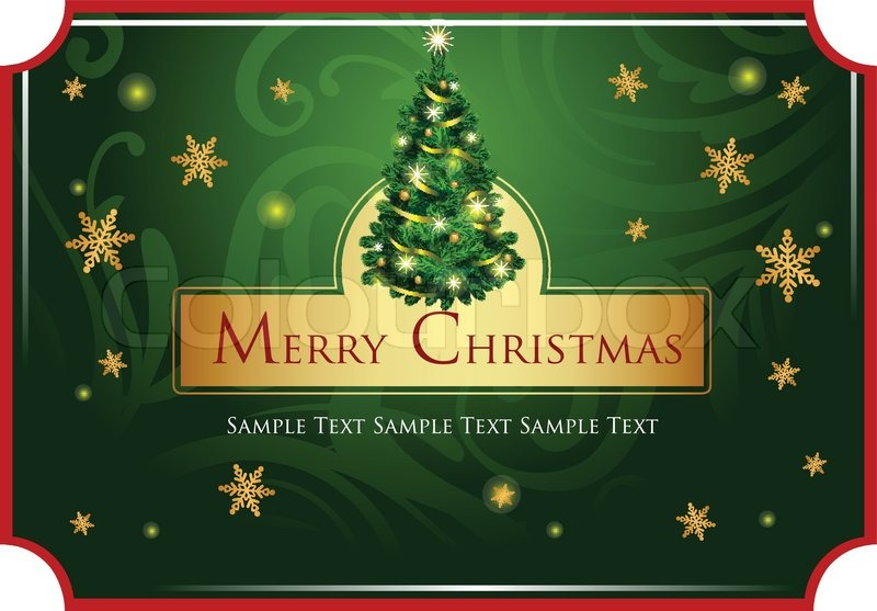 Christmas classic background for Stock Vector Colourbox