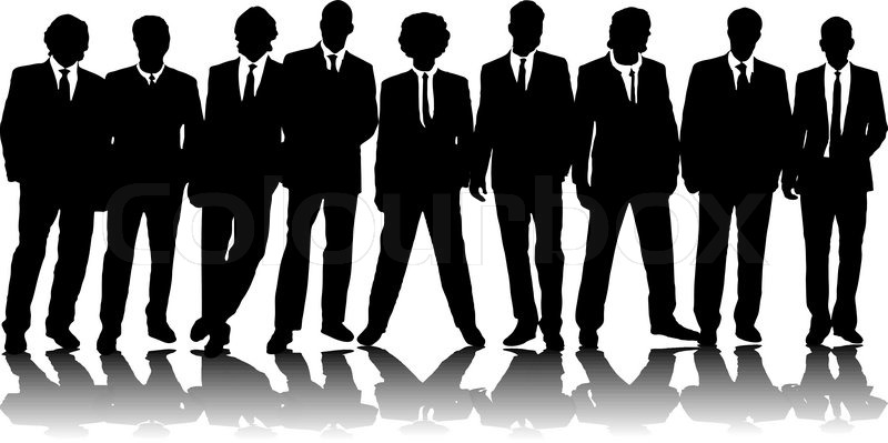 A group of nine business people in Stock Vector Colourbox