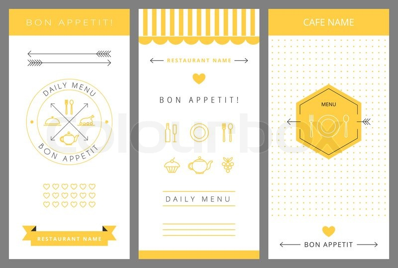 Daily menu design template Vector isolated illustration Stock
