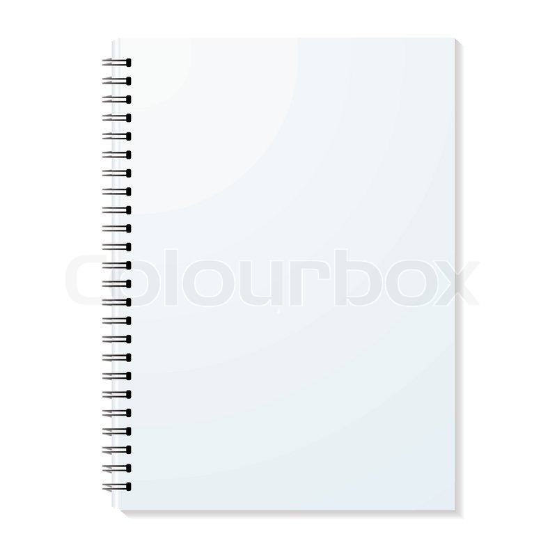 Blank ring binder with shadow and single pages Stock Vector - notebook binder
