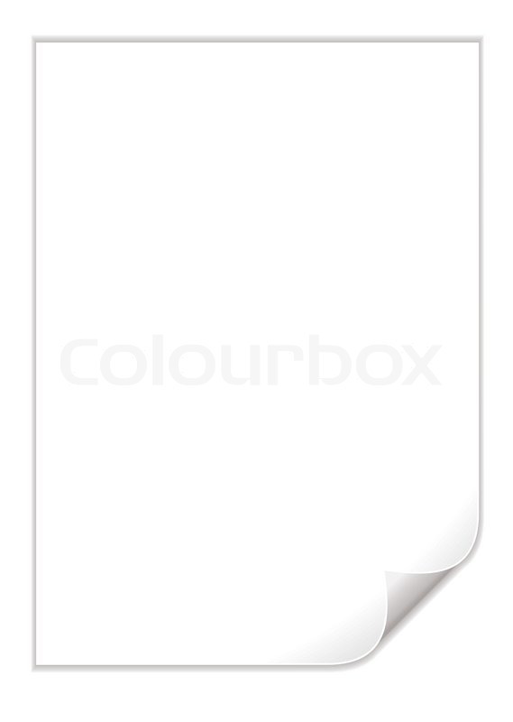 Single piece of white paper with a Stock Vector Colourbox