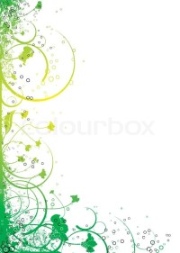 Abstract floral design in yellow and green that will make ...