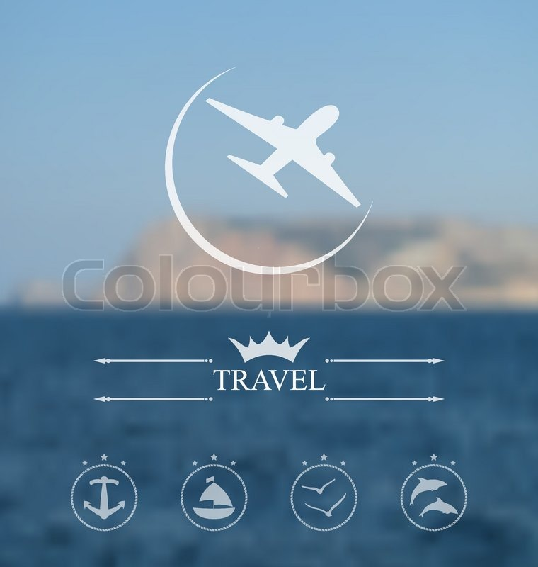 Illustration template of poster for time to travel Blurred - hipster logo template
