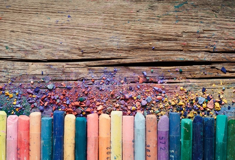 Free Fall Wallpaper For Cell Phones Pastel Crayons And Pigment Dust On Stock Photo