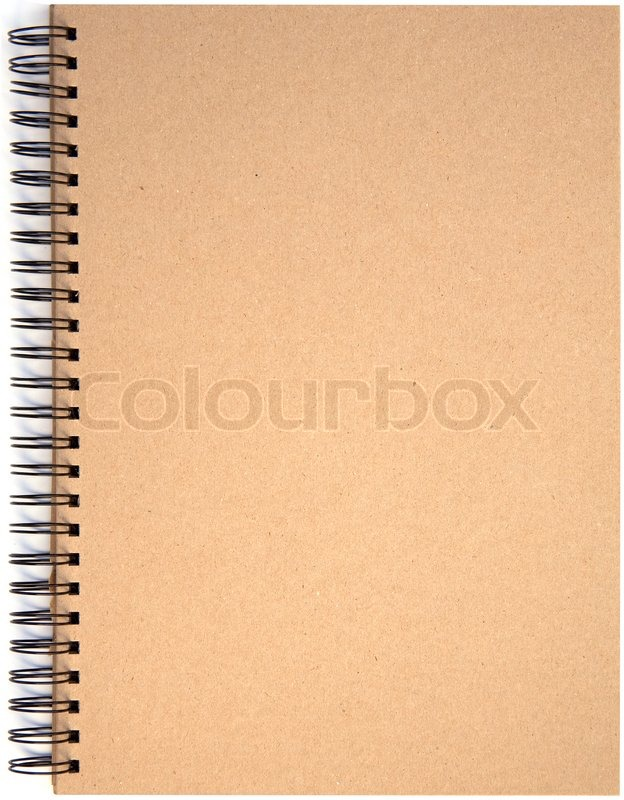 Blank front page cover of spiral bound note pad isolated isolated on - blank diary page