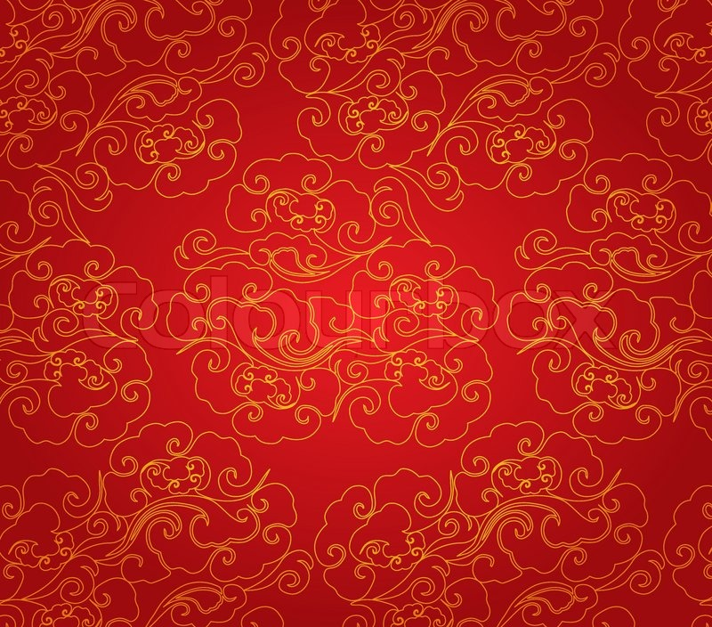 Cloud abstract chinese new year Stock Vector Colourbox