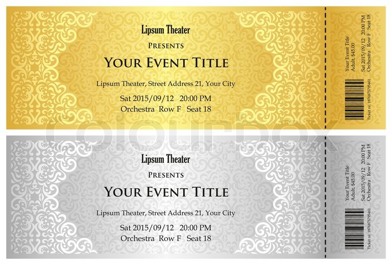 free ticket invitation template