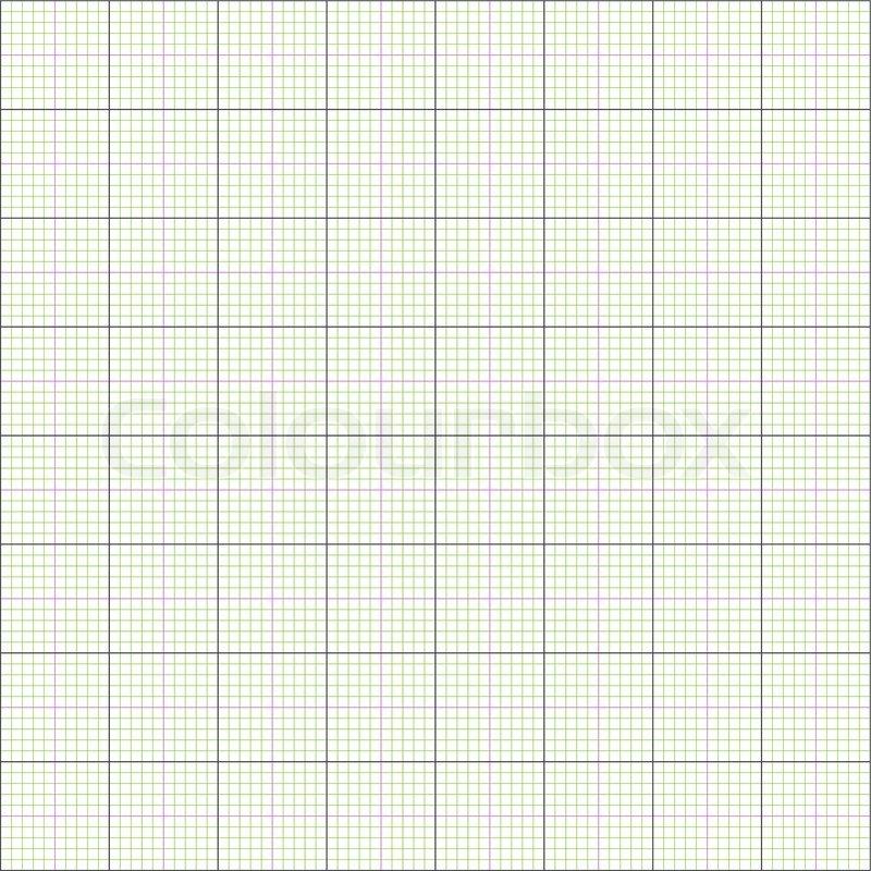 Graph paper grid background, 2d illustration, vector, eps 8 Stock