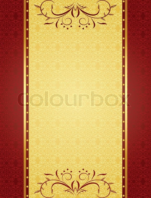 Gold background for design of cards Stock Vector Colourbox