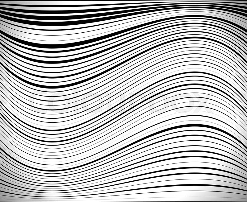 Horizontal lines / stripes pattern or background with wavy, curving