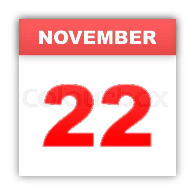 November 22 Day on the calendar 3d Stock Photo Colourbox