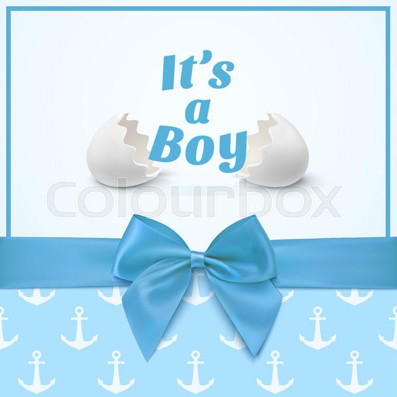 Its a boy Template for baby shower celebration, or baby