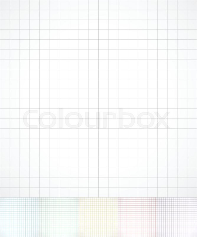 Gridded, wire frame paper, graph paper Stock Vector Colourbox