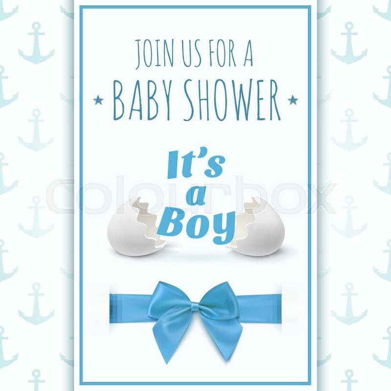 Its a boy Template for baby shower celebration, or baby - boy birth announcement template