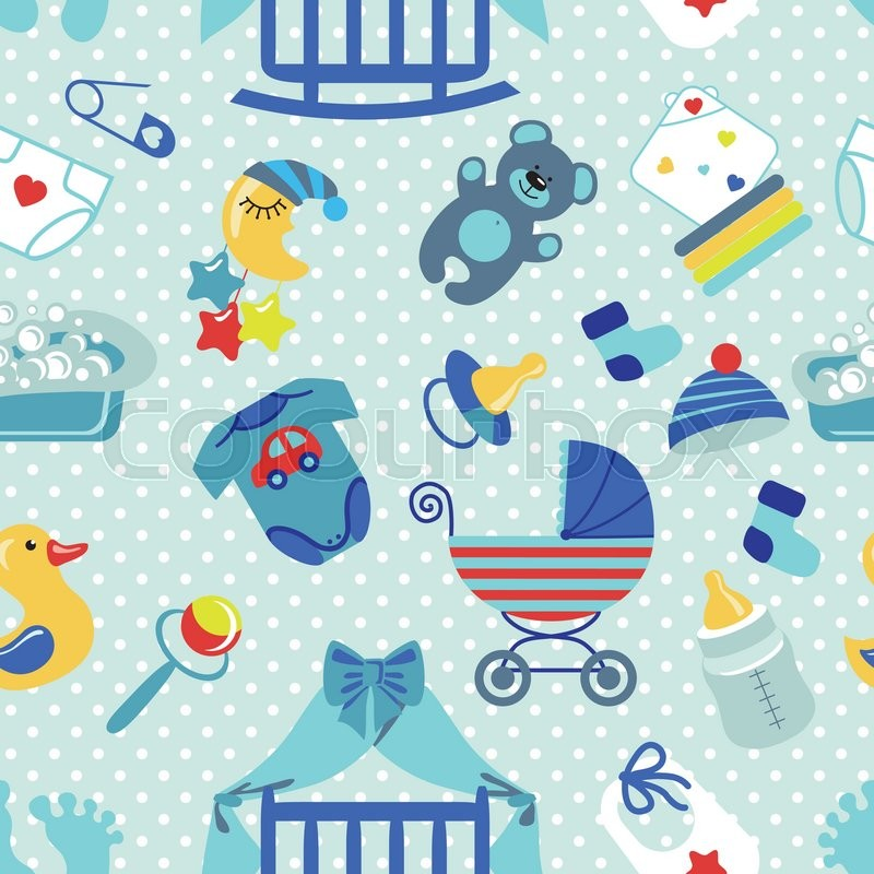 Cute Owl Cartoon Wallpaper Cute Newborn Seamless Pattern For Baby Boy Baby Shower