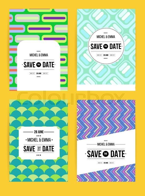 Vector card set templates Abstract Stock Vector Colourbox