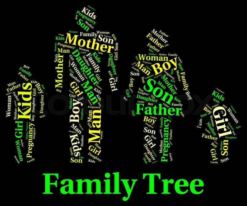 Family Tree Meaning Blood Relation And Genealogical Stock Photo - family relation tree