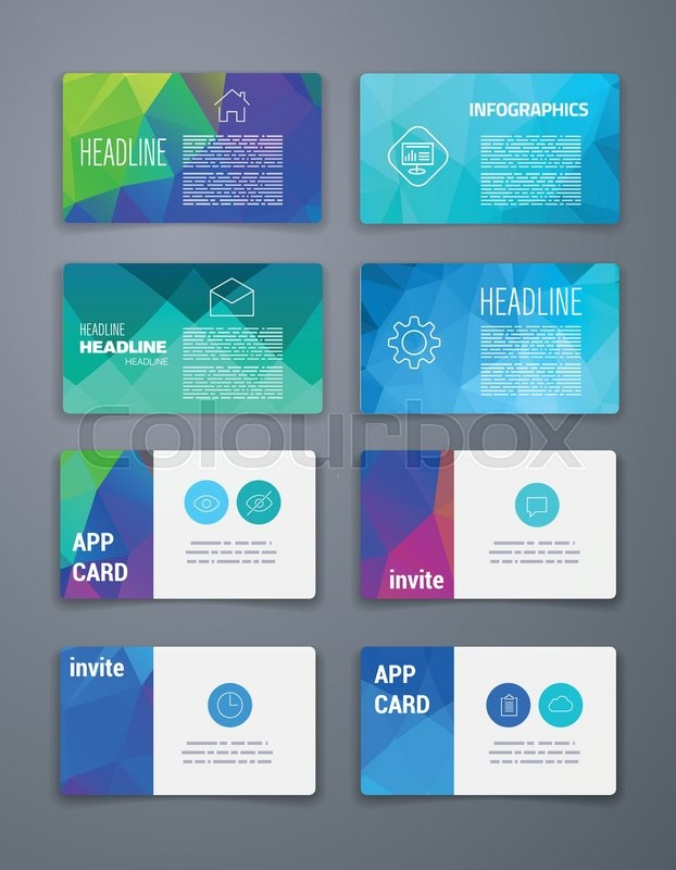 Template Business card Abstract Geometric Vector Template Layout - web flyer