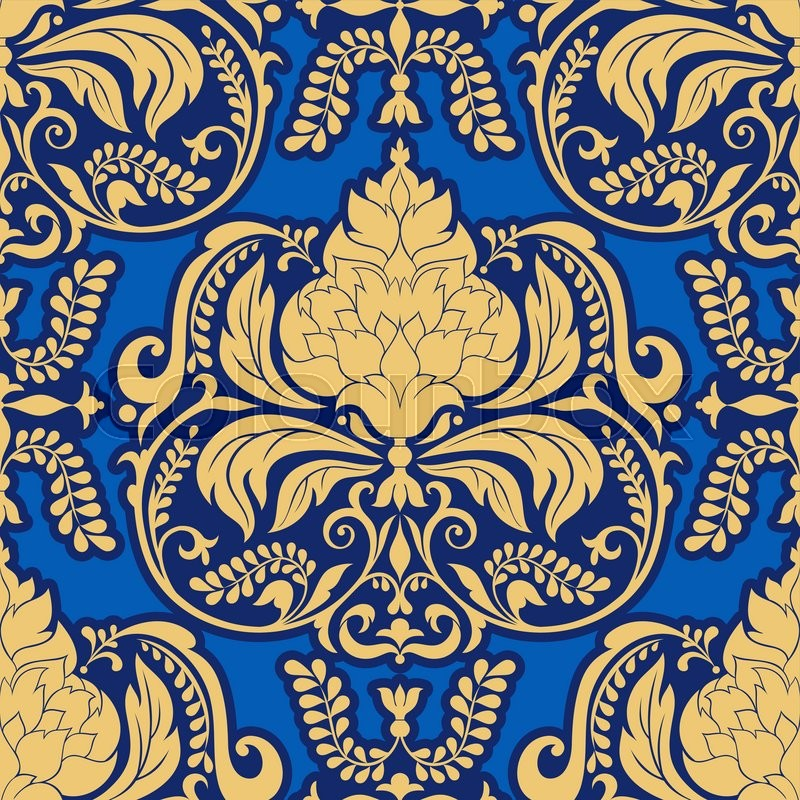 As Royal Decor 3d Wallpaper Vector Damask Pattern Design Royal Ornamental Background