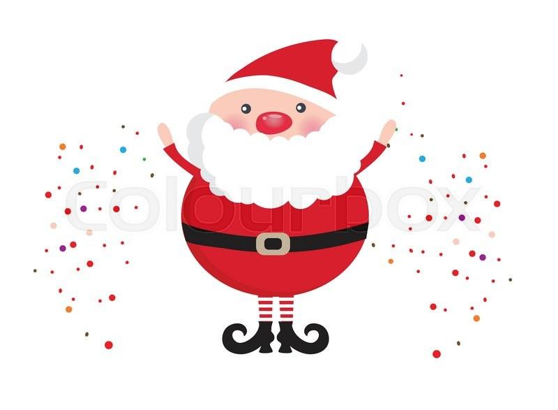 Natal Wallpaper 3d Cute Santa Claus Face Icon On Dark Brown Background