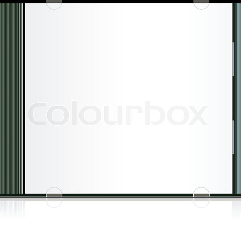 Vector blank cd box Stock Vector Colourbox