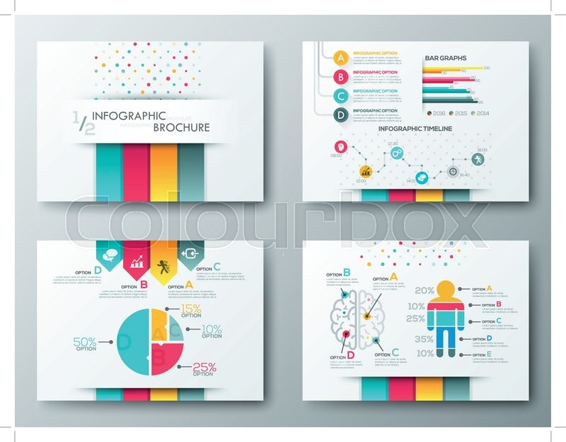 Set of Flyer, Brochure Design Templates, Infographic vector elements - advertising timeline template