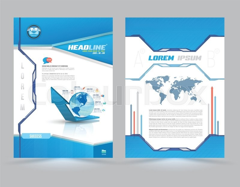 Cover page layout template technology style Vector illustration - Free Report Cover Page Template