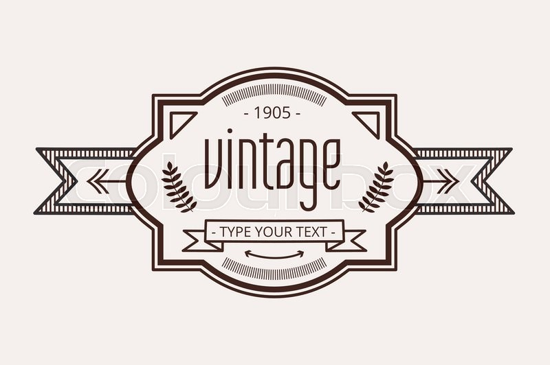 Vintage old style logo icon template Letter H logo Royal hotel - text logo template