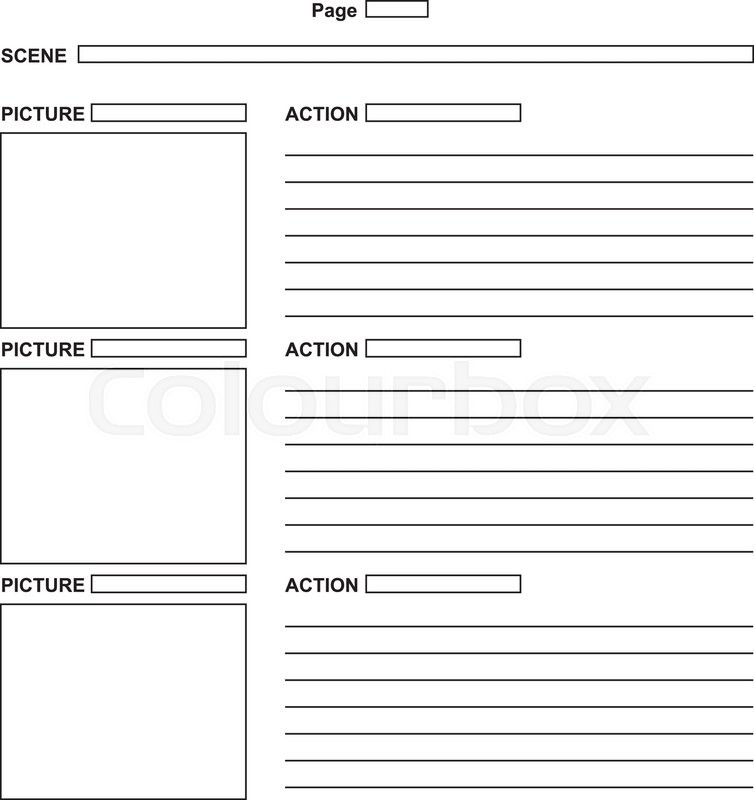 The template for the script storyboard Vector illustration Stock - script storyboard