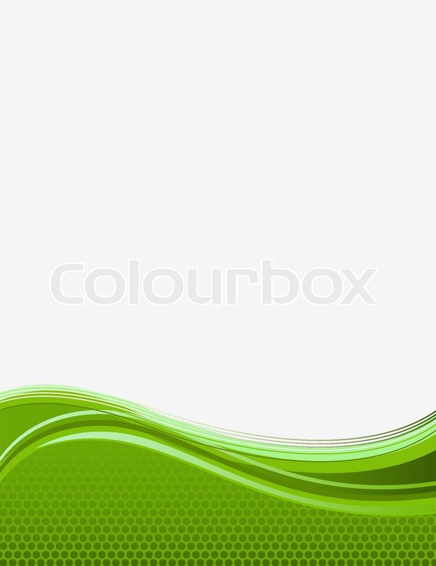 Green background with waves Stock Vector Colourbox