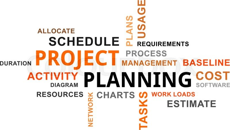 A word cloud of project planning related items Stock Vector - project planning