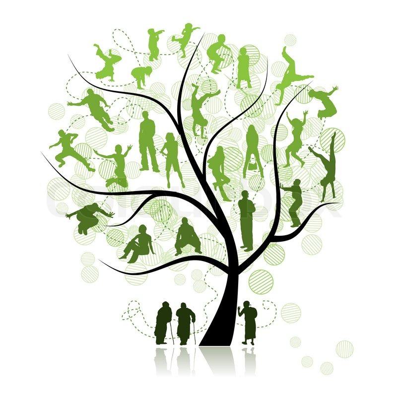 Family tree, relatives Stock Vector Colourbox