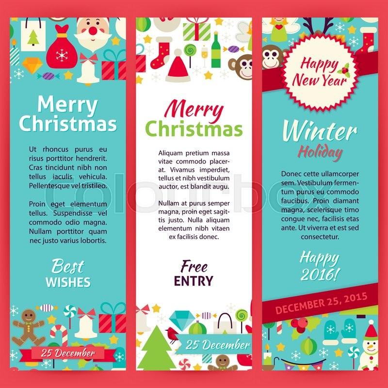 Happy New Year Invitation Template Stock Vector Colourbox
