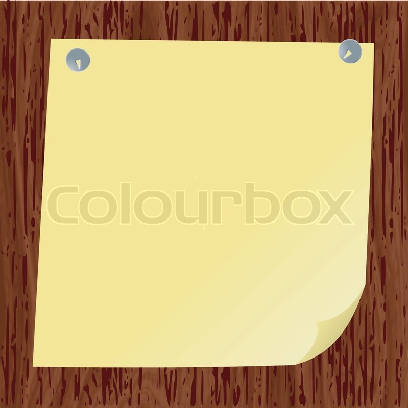 Blank paper on wood background for Stock Vector Colourbox