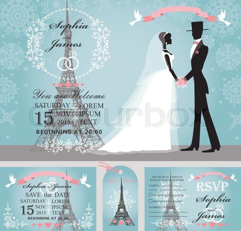 Wedding design template setWinter,Christmas seasonBride in white