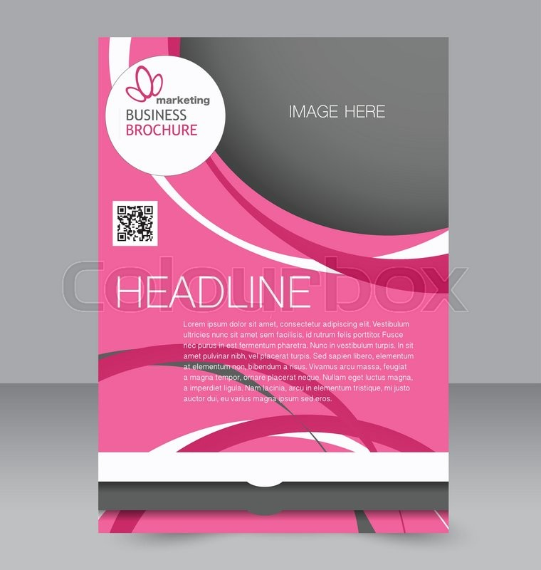 Flyer, brochure, magazine cover template design for education