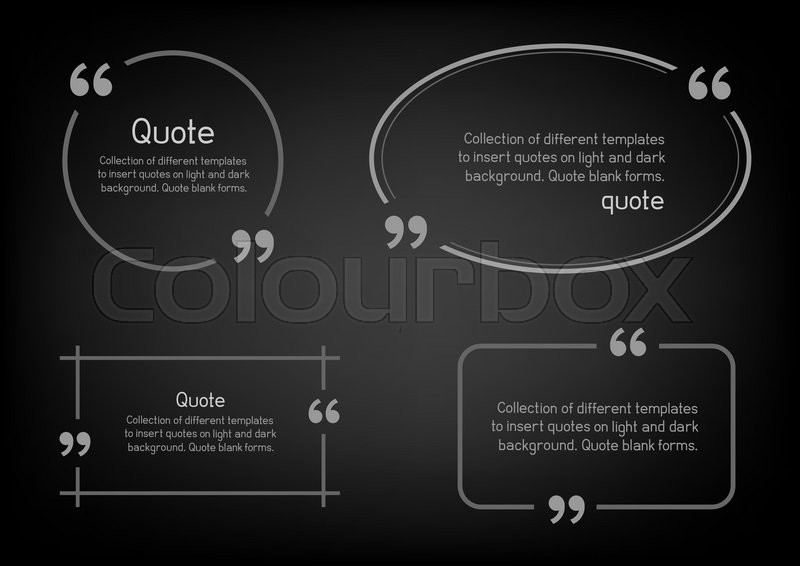 Templates for writing quote Round Stock Vector Colourbox