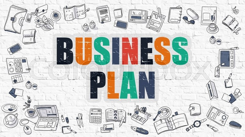 Business Plan - Multicolor Concept with Doodle Icons Around on - business plan elements