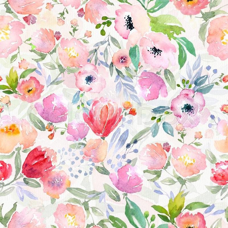 Floral Print Iphone Wallpaper Watercolor Floral Botanical Pattern And Seamless