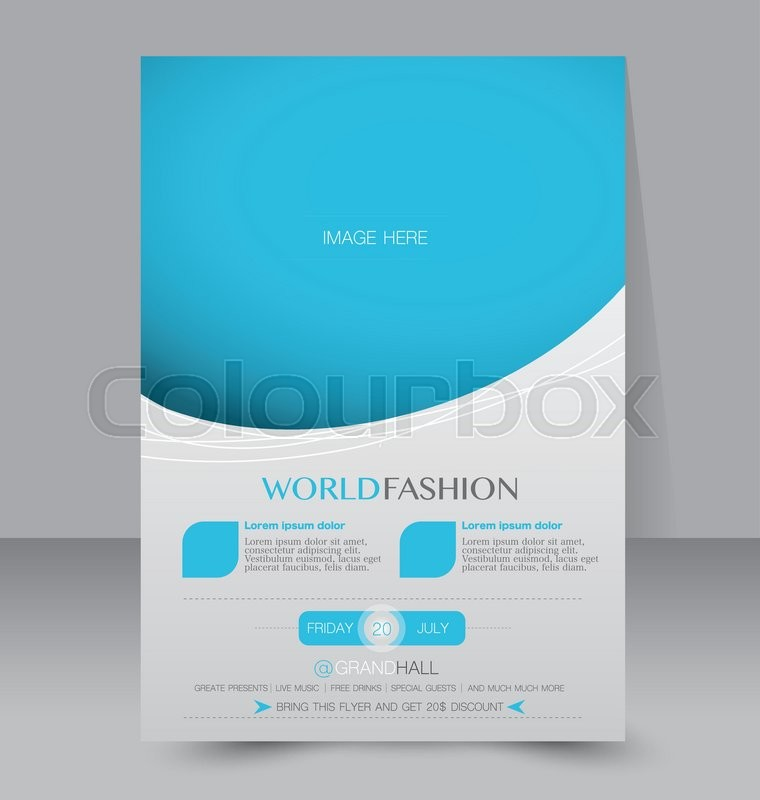 Brochure design template Abstract background for business - advertisement brochure